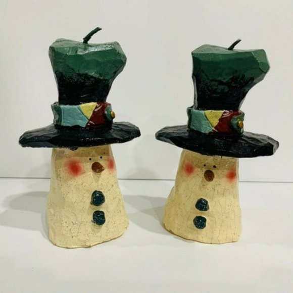 Kurt S. Adler SNOWMEN Christmas Candles orig box
